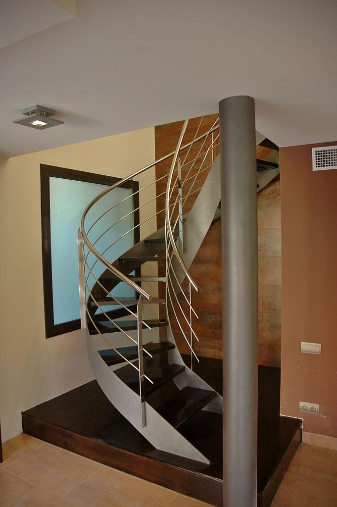 escalera acero inoxidable